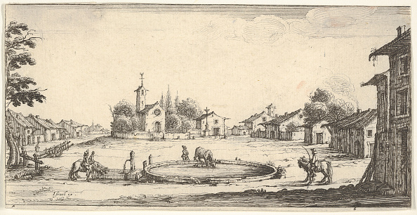 Copy Space「Plate 6: View Of A Village With A Horse Trough In Center」:写真・画像(13)[壁紙.com]
