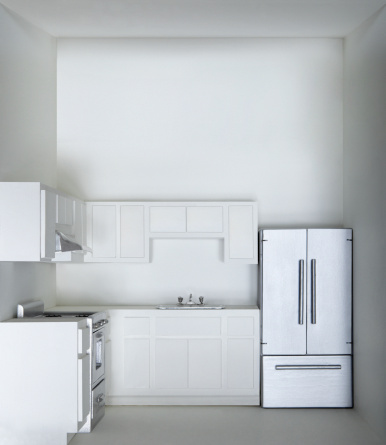 スタジオ撮影「White kitchen in model house」:スマホ壁紙(18)