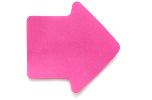 Adhesive Note「Pink arrow postit note on white」:スマホ壁紙(9)