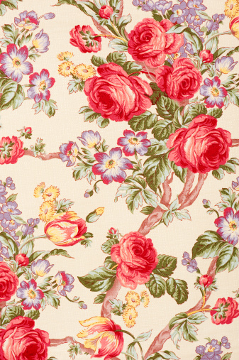 Floral Pattern「Debonair Close Up Antique Floral Fabric」:スマホ壁紙(0)