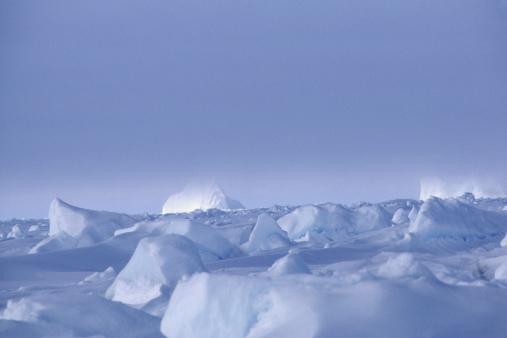 北極「Snow peaks, Baffin Bay, Baffin Island, Canada, surface view」:スマホ壁紙(9)