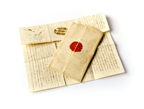 Manuscript「Two old letters」:スマホ壁紙(1)