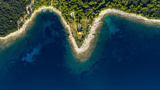 Shallow「Coastline on the Croatian island Dugi otok」:スマホ壁紙(5)