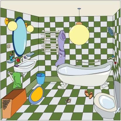 かわいい「cozy little bathroom」:スマホ壁紙(8)