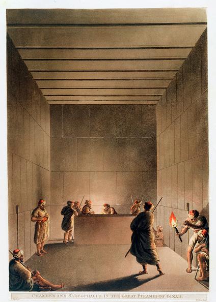 世界遺産「Chamber And Sarcophagus In The Great Pyramid Of Giza' Egypt 1802」:写真・画像(15)[壁紙.com]