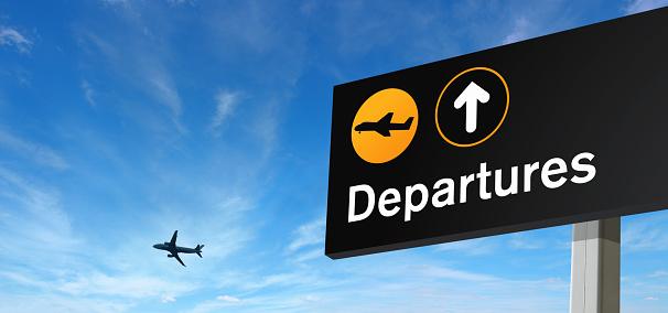 旅行「し、飛行機でのご出発、スカイ」:スマホ壁紙(6)