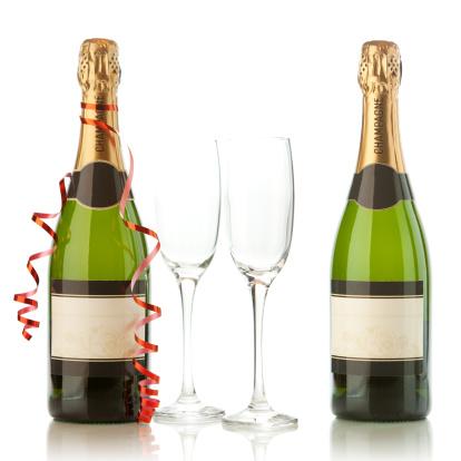 Wine Bottle「Champagne bottles with party ornaments」:スマホ壁紙(0)