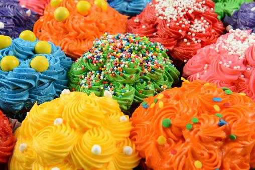 最上部「Cupcake Tops Close-up」:スマホ壁紙(6)