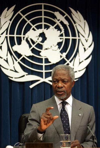 United Nations Building「UN Secretary General Kofi Annan Holds A News Conference」:写真・画像(2)[壁紙.com]