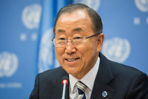 Andrew Burton「United Nations Secretary General Ban Ki-Moon Holds News Conference」:写真・画像(2)[壁紙.com]