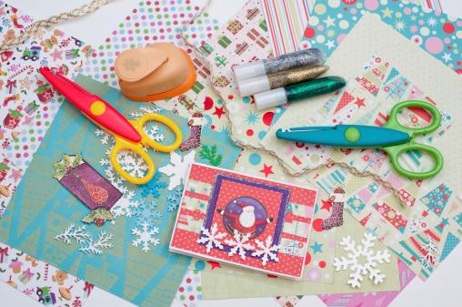 Paper Craft「Christmas scrapbooking」:スマホ壁紙(3)