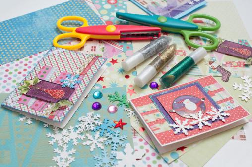Paper Craft「Christmas scrapbooking」:スマホ壁紙(17)