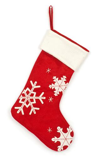 Christmas Stocking「Christmas stocking with shadow on white background」:スマホ壁紙(19)