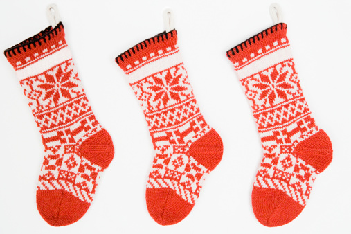 Christmas Decoration「Christmas stockings in a row」:スマホ壁紙(1)