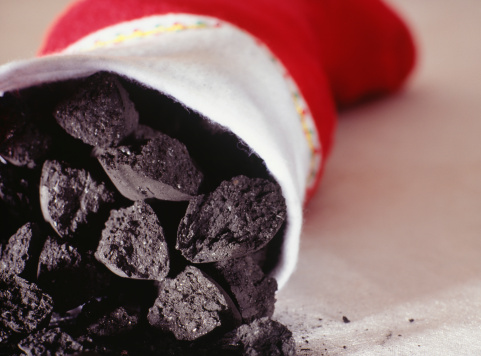 Mischief「Christmas stocking filled with coal, close-up」:スマホ壁紙(7)