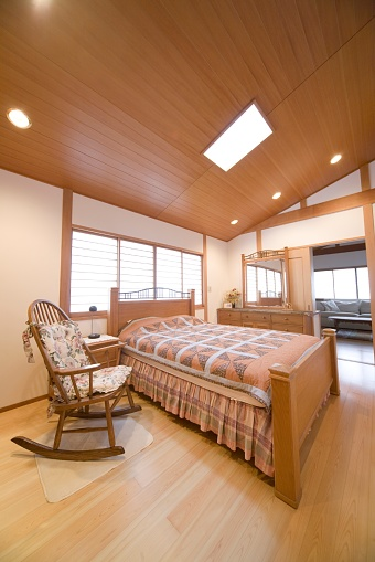 Dressing Table「Showcase Interior of a Bedroom Fusing Japanese and Western Decor」:スマホ壁紙(18)