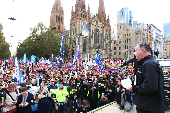 Finance and Economy「Union Workers Shut Down Melbourne CBD In Protest Over Work Conditions」:写真・画像(19)[壁紙.com]