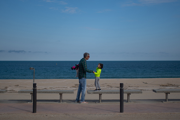 Beach「Spain Allows Children To Go Outside, Easing Lockdown Rule」:写真・画像(11)[壁紙.com]