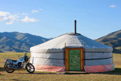 Orkhon Valley「Ger and motorbike, Orkhon Valley, Central Mongolia」:スマホ壁紙(19)