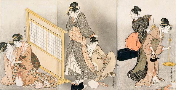 日本文化「Double pillow Triptych, ca 1794」:写真・画像(18)[壁紙.com]
