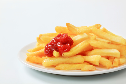Fast Food French Fries「French fries with ketchup」:スマホ壁紙(15)