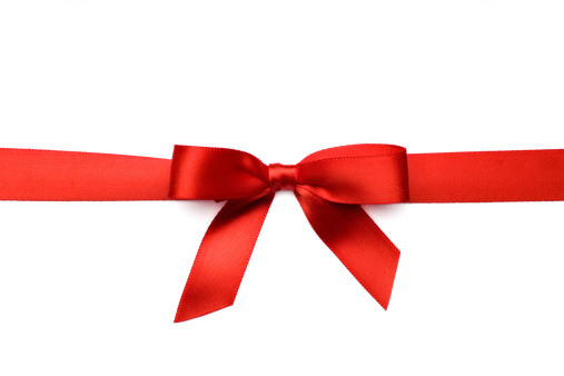 Ribbon - Sewing Item「Red Satin Gift Bow (Clipping Path)」:スマホ壁紙(19)