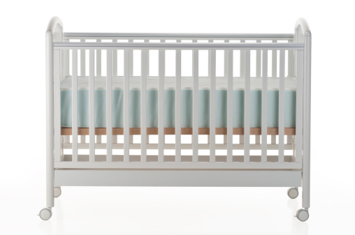 Side View「White baby crib on white background」:スマホ壁紙(15)