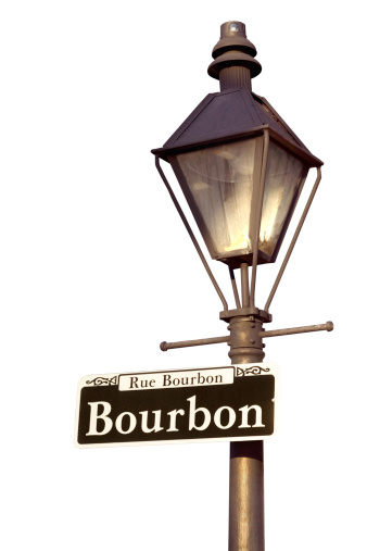New Orleans「Lamppost with Bourbon Street sign, New Orleans, Louisiana」:スマホ壁紙(13)