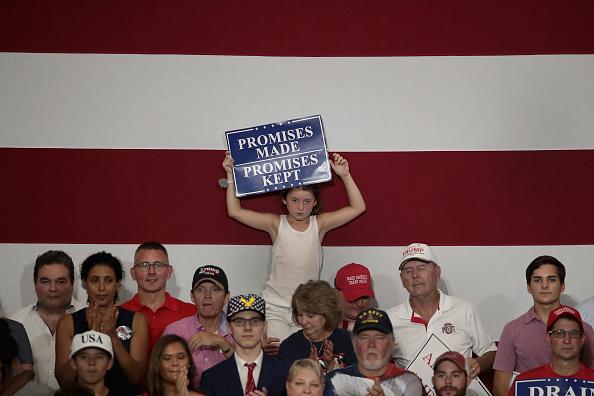 オハイオ州「Donald Trump Holds Rally, Campaigns For Troy Balderson, In Ohio」:写真・画像(14)[壁紙.com]