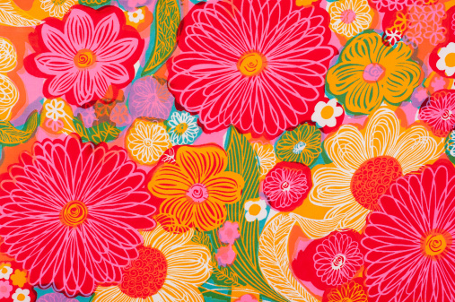 Floral Pattern「Vintage Fabric Background SB26 1962-1972」:スマホ壁紙(17)