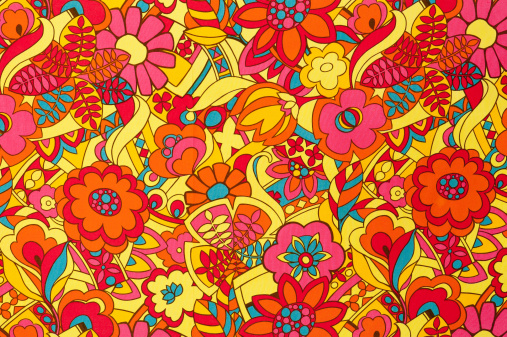 Floral Pattern「Vintage Fabric Background SB51 1962-1972」:スマホ壁紙(18)
