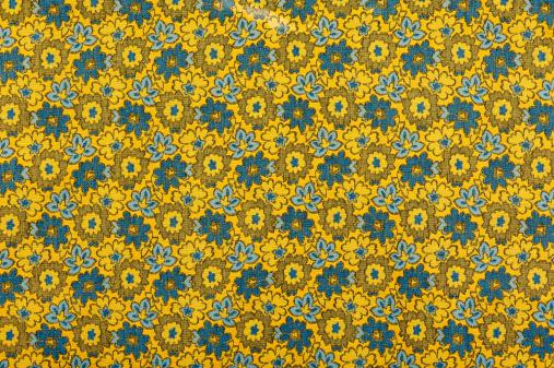 Floral Pattern「Vintage Fabric Background SB52 wide 1962-1972」:スマホ壁紙(3)