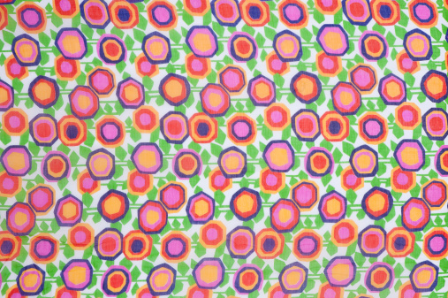 Floral Pattern「Vintage Fabric Background SB36 1962-1972」:スマホ壁紙(19)
