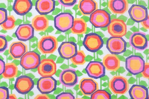 Floral Pattern「Vintage Fabric Background SB36 Close Up 1962-1972」:スマホ壁紙(14)