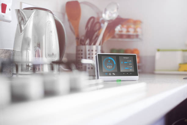 Smart meter in the kitchen:スマホ壁紙(壁紙.com)