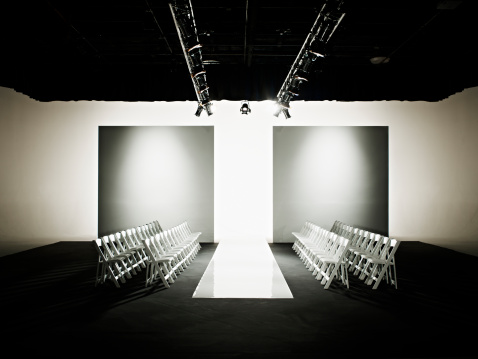 Preparation「Chairs around catwalk set for fashion show」:スマホ壁紙(3)