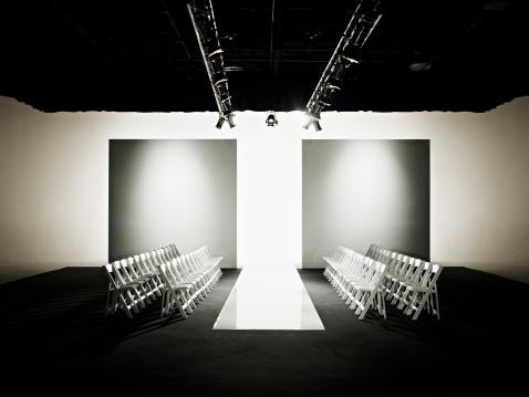 Catwalk - Stage「Chairs around catwalk set for fashion show」:スマホ壁紙(3)
