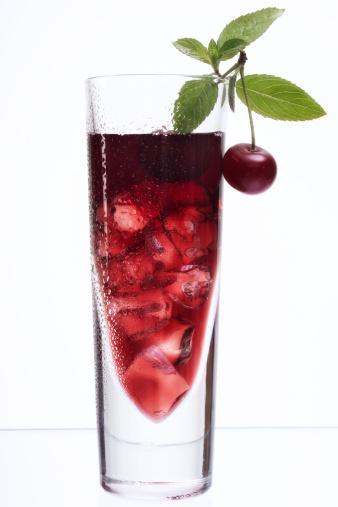 Juice - Drink「Cherry juice with ice cubes」:スマホ壁紙(13)