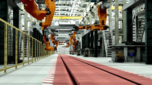 Robots in factory of future:スマホ壁紙(壁紙.com)