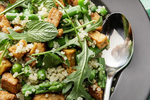 Meat Substitute「Salads: Quinoa Salad with Tofu, Asparagus, Arugula, and Mint」:スマホ壁紙(12)