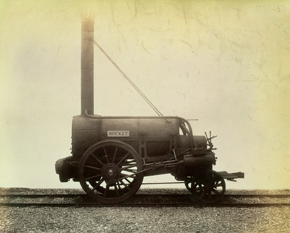 1820-1829「The 'Rocket' Locomotive Designed By George Stephenson In 1829 circa 1905」:写真・画像(6)[壁紙.com]