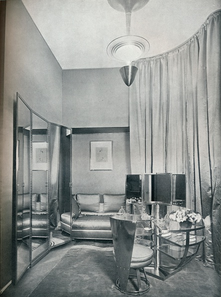 Ready-To-Eat「'Part of a boudoir dressing-room in dove grey satin and chromium plated metal, by Eugene Printz of P Artist: Unknown.」:写真・画像(14)[壁紙.com]