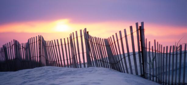 New Jersey「Sand Dune Fence at Sunset」:スマホ壁紙(7)
