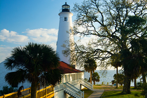 Tallahassee「St. Marks Lighthouse on the St. Marks Wildlife Refuge, Florida」:スマホ壁紙(12)
