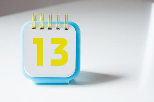 Calendar「Number thirteen on a calendar」:スマホ壁紙(16)
