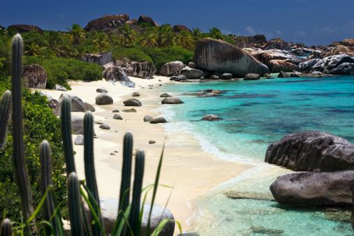 British Virgin Islands「The Baths - beautiful untouched beach in Virgin Gorda, BVI」:スマホ壁紙(12)