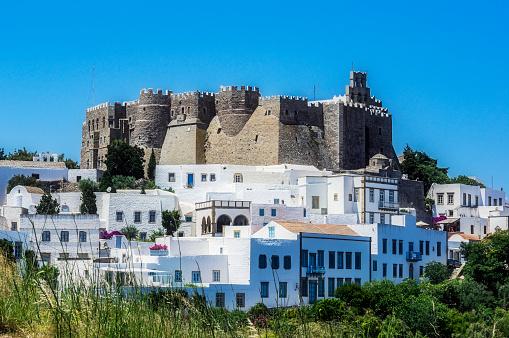 Patmos「Greece, Patmos, Chora, Monastery of Saint John the Theologian」:スマホ壁紙(7)