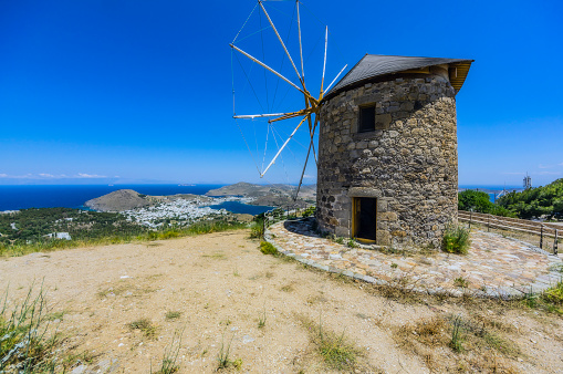 Patmos「Greece, Patmos, historical windmill」:スマホ壁紙(19)