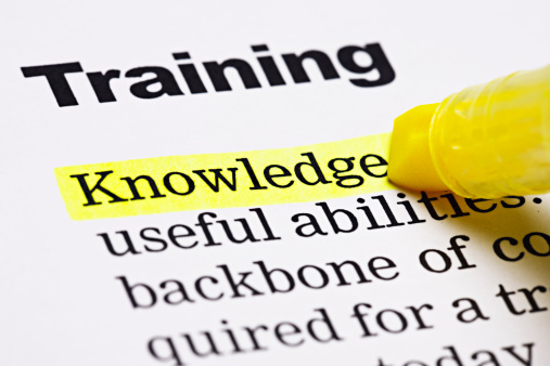 Education Training Class「Under the heading 'Training', 'Knowledge' is highlighted in yellow」:スマホ壁紙(13)