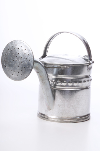 Pour Spout「silver watering can, cut-out, white background」:スマホ壁紙(19)